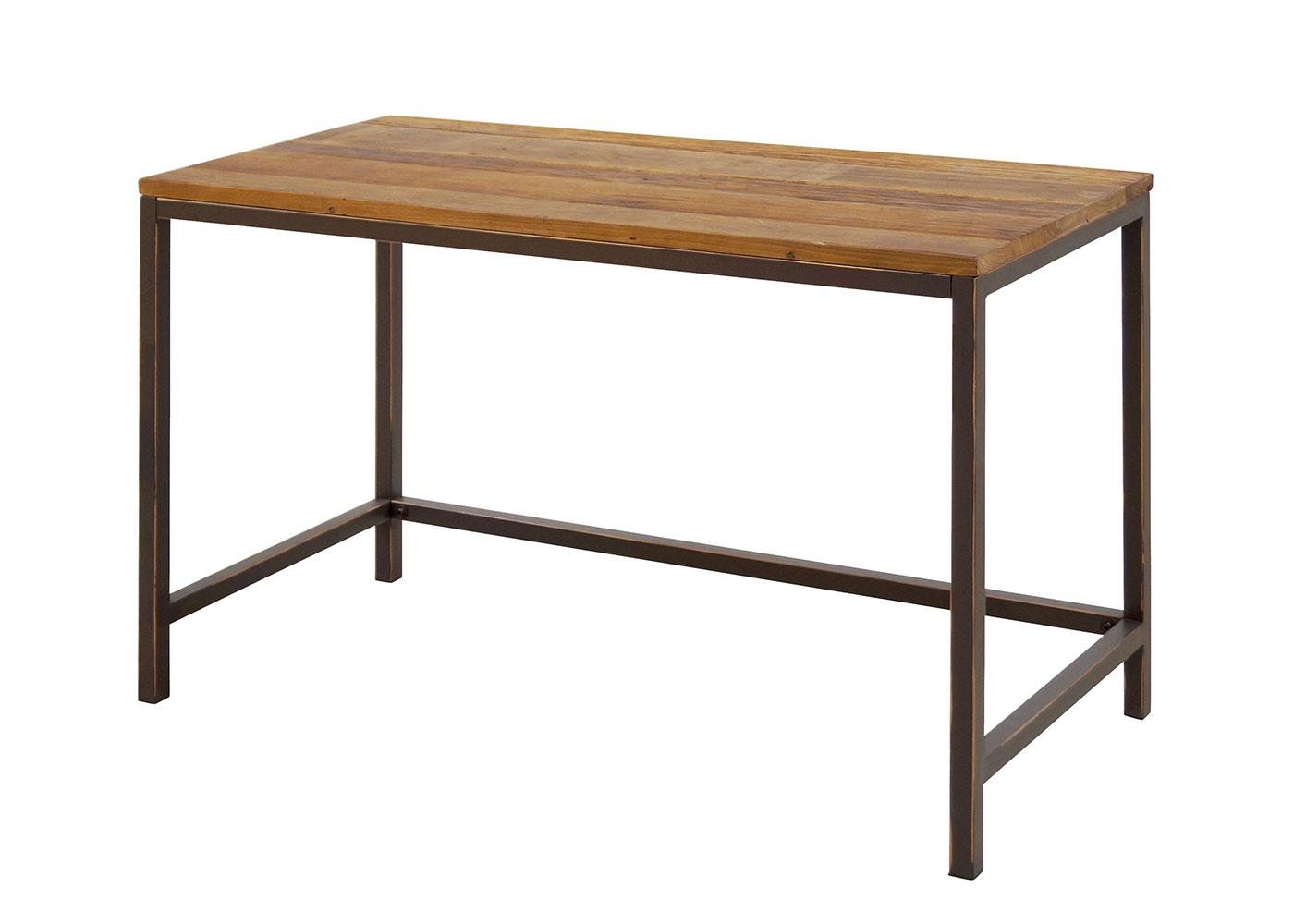 Pracovní stůl s dřevěnou deskou Harvest, 120 cm