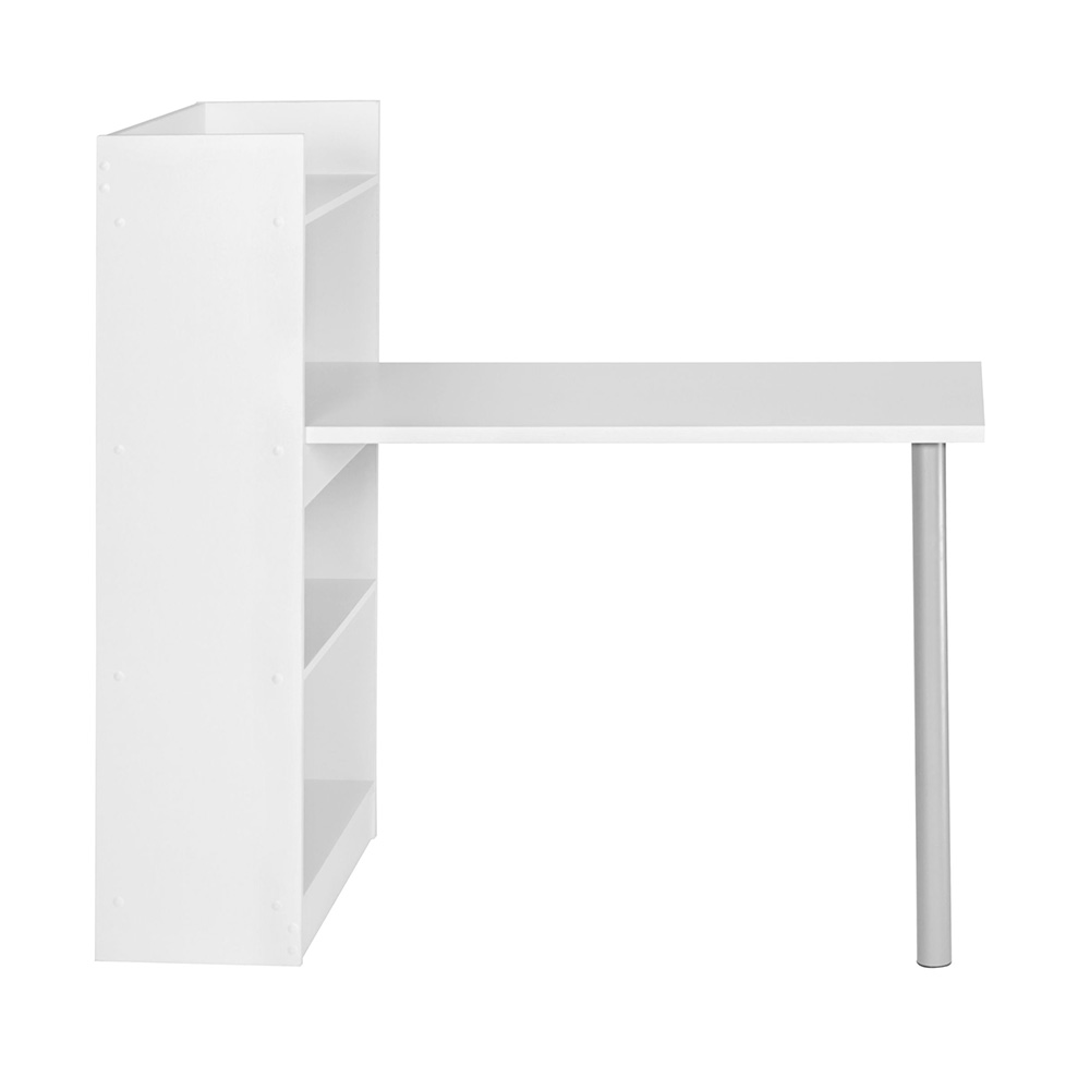Pracovní stůl s regálem Nico, 121,5 cm, bílá