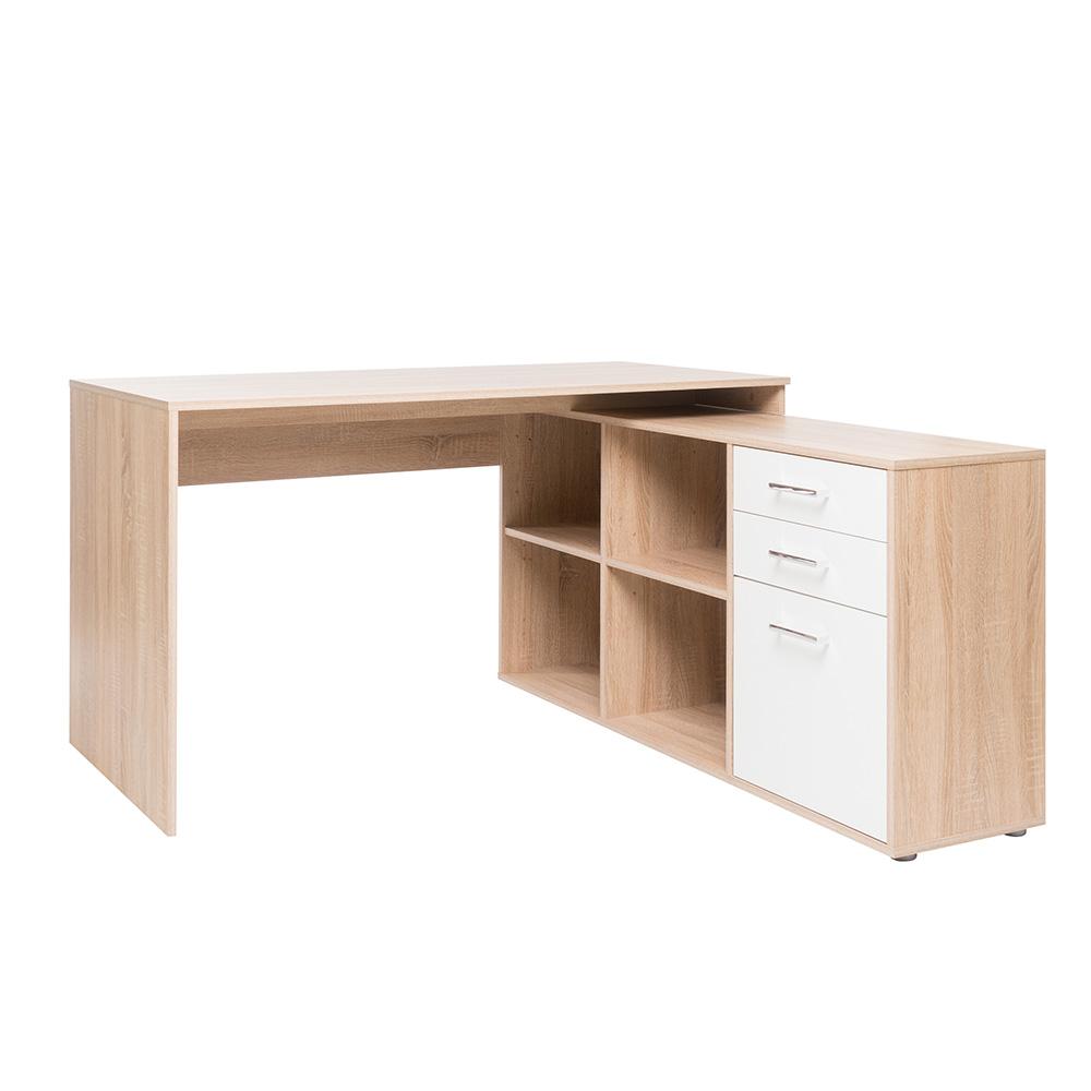 Pracovní stůl se skříní a zásuvkami Bonn 1, 136 cm