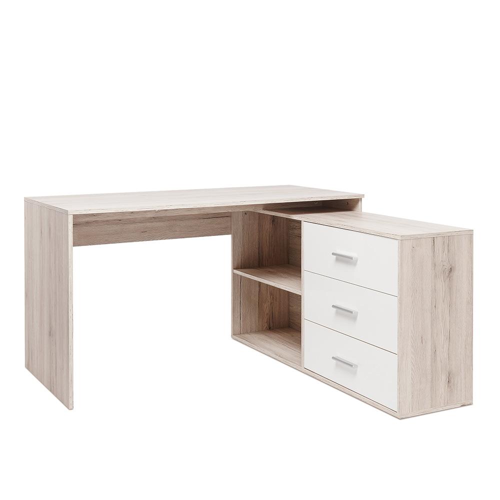 Pracovní stůl se skříní a zásuvkami Bonn 2, 136 cm