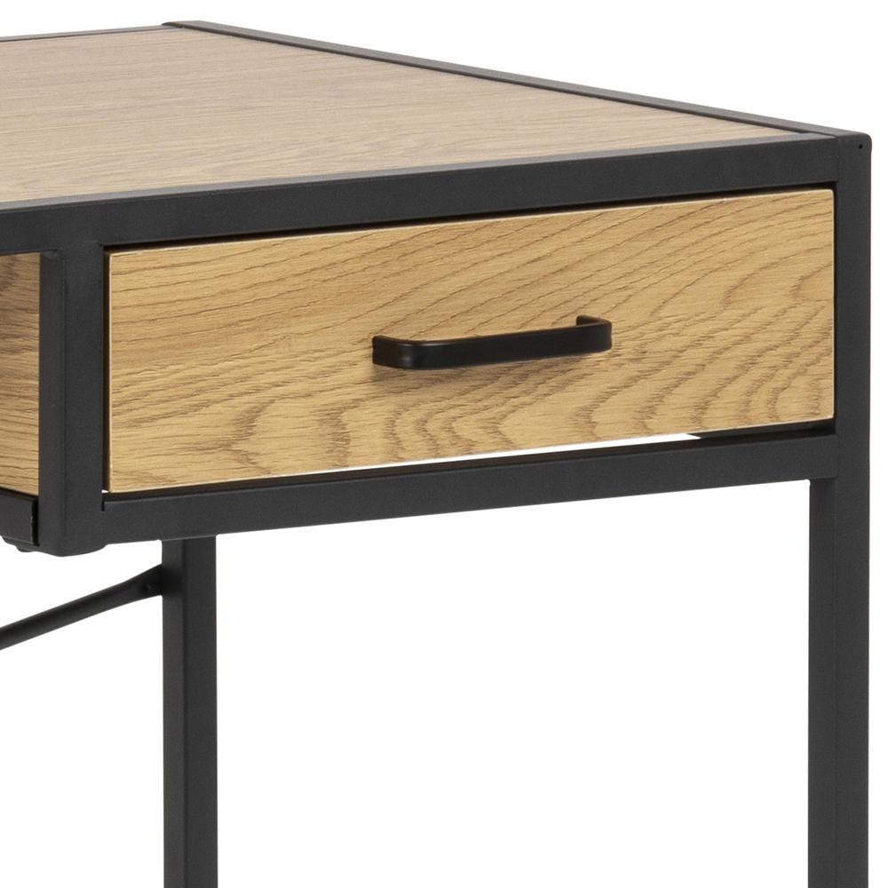 Pracovní stůl se zásuvkou Seashell, 110 cm, dub