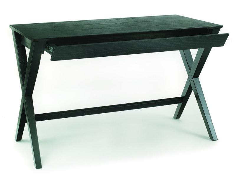 Pracovní stůl se zásuvkou Trixy, 120 cm, černá
