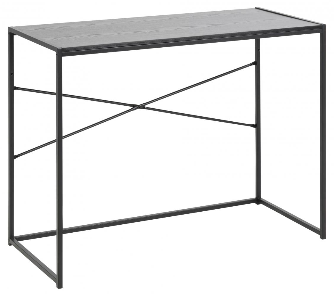 Pracovní stůl Seaford, 100 cm, MDF, černá