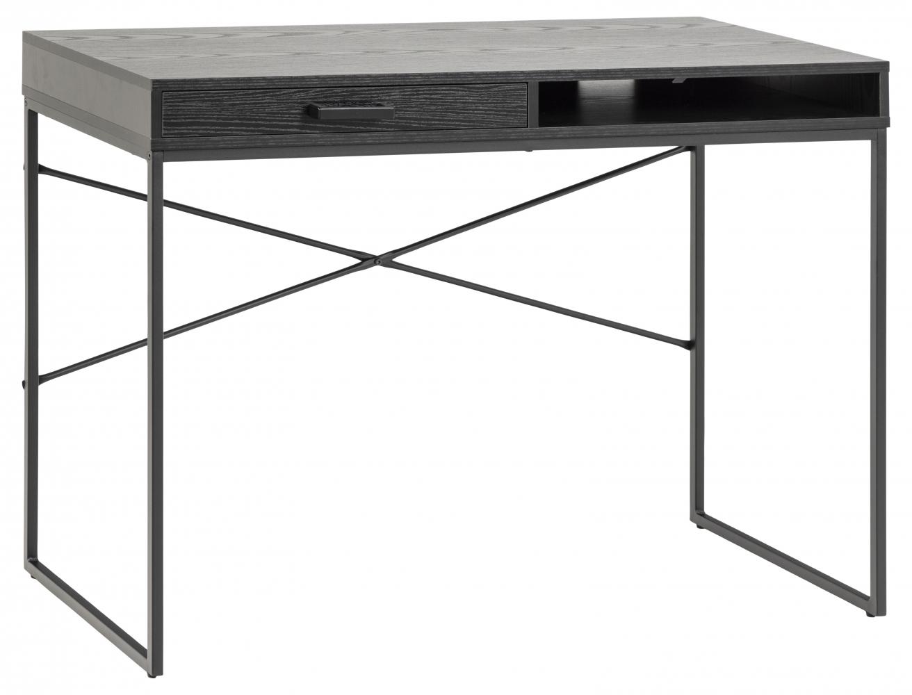 Pracovní stůl Seaford, 110 cm, MDF, černá
