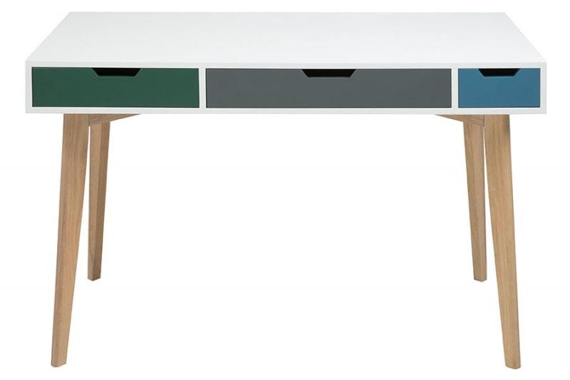 Pracovný stôl so zásuvkami Sissy, 120 cm, viac farieb