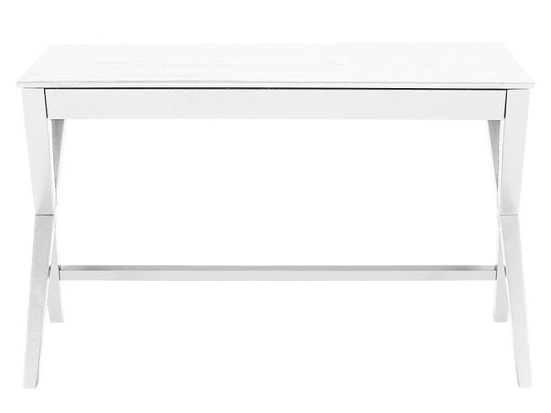 Pracovný stôl so zásuvkou Trixy, 120 cm, biela, biela