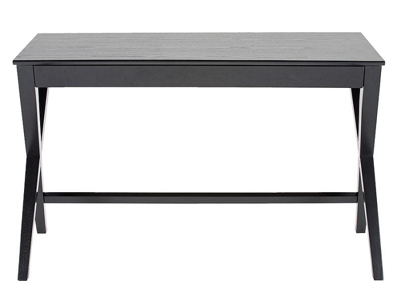 Pracovný stôl so zásuvkou Trixy, 120 cm, čierna, čierna