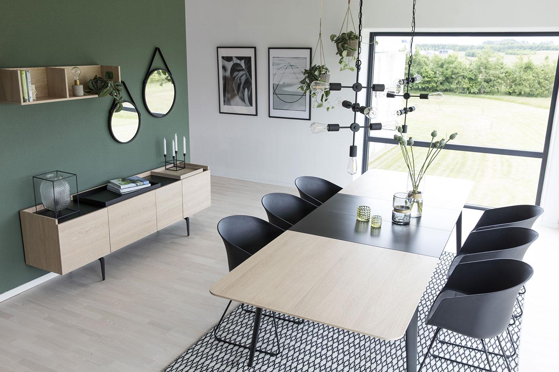 Predlžovacia doska k jedálenskému stolu Perfect, 50 cm, čierna