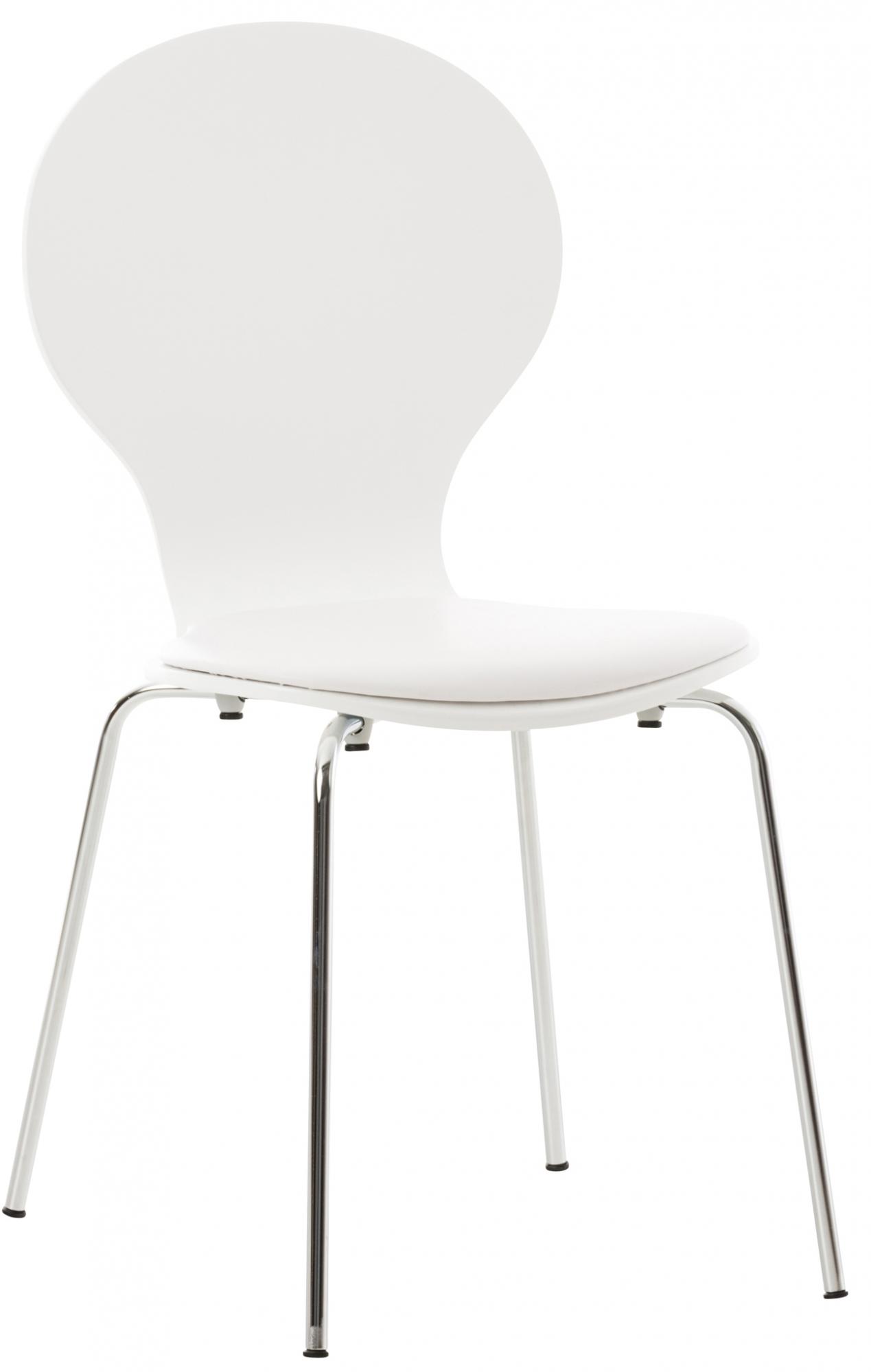 Překližková jídelní židle Dingo, bílá/bílá
