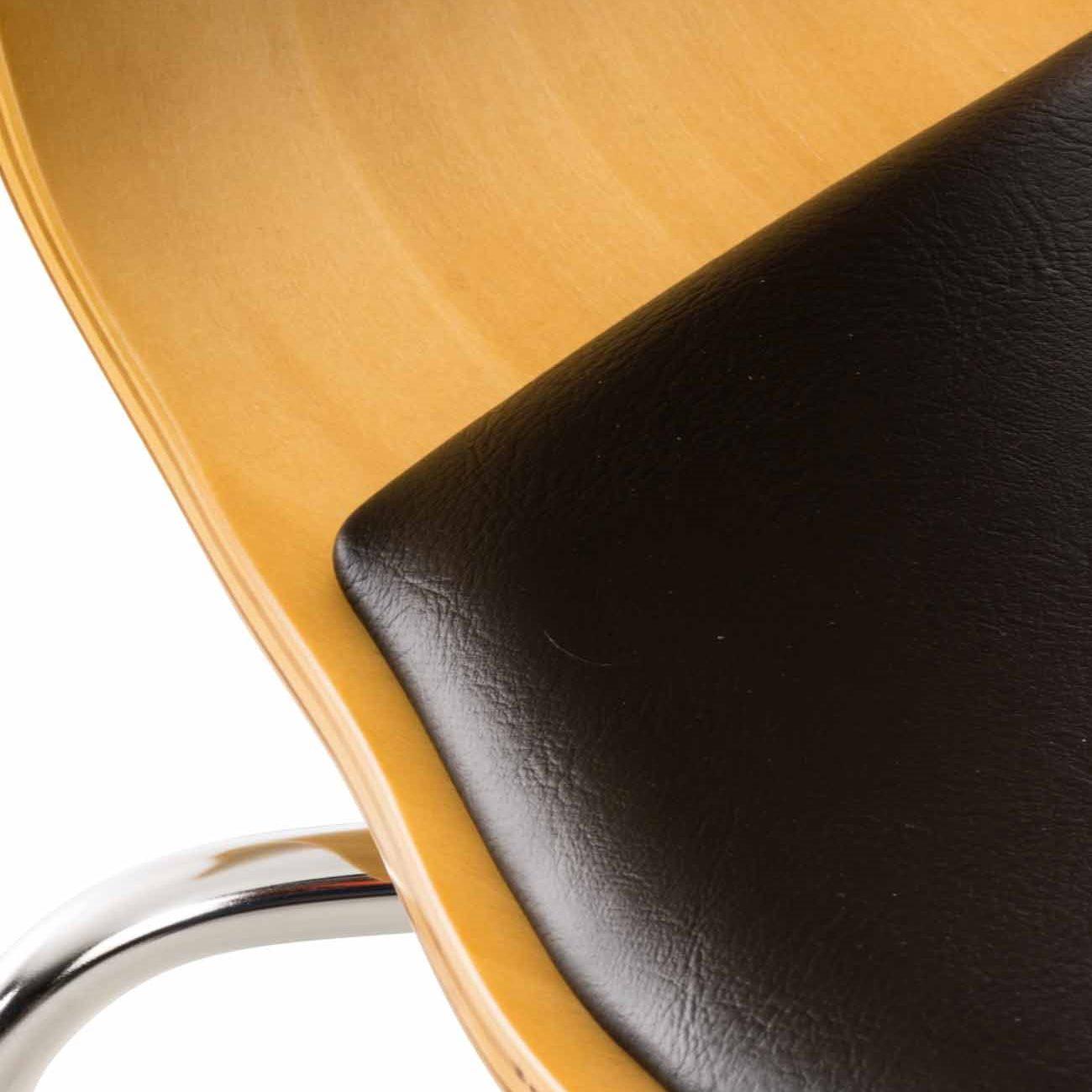 Překližková jídelní židle Dingo, buk/černá