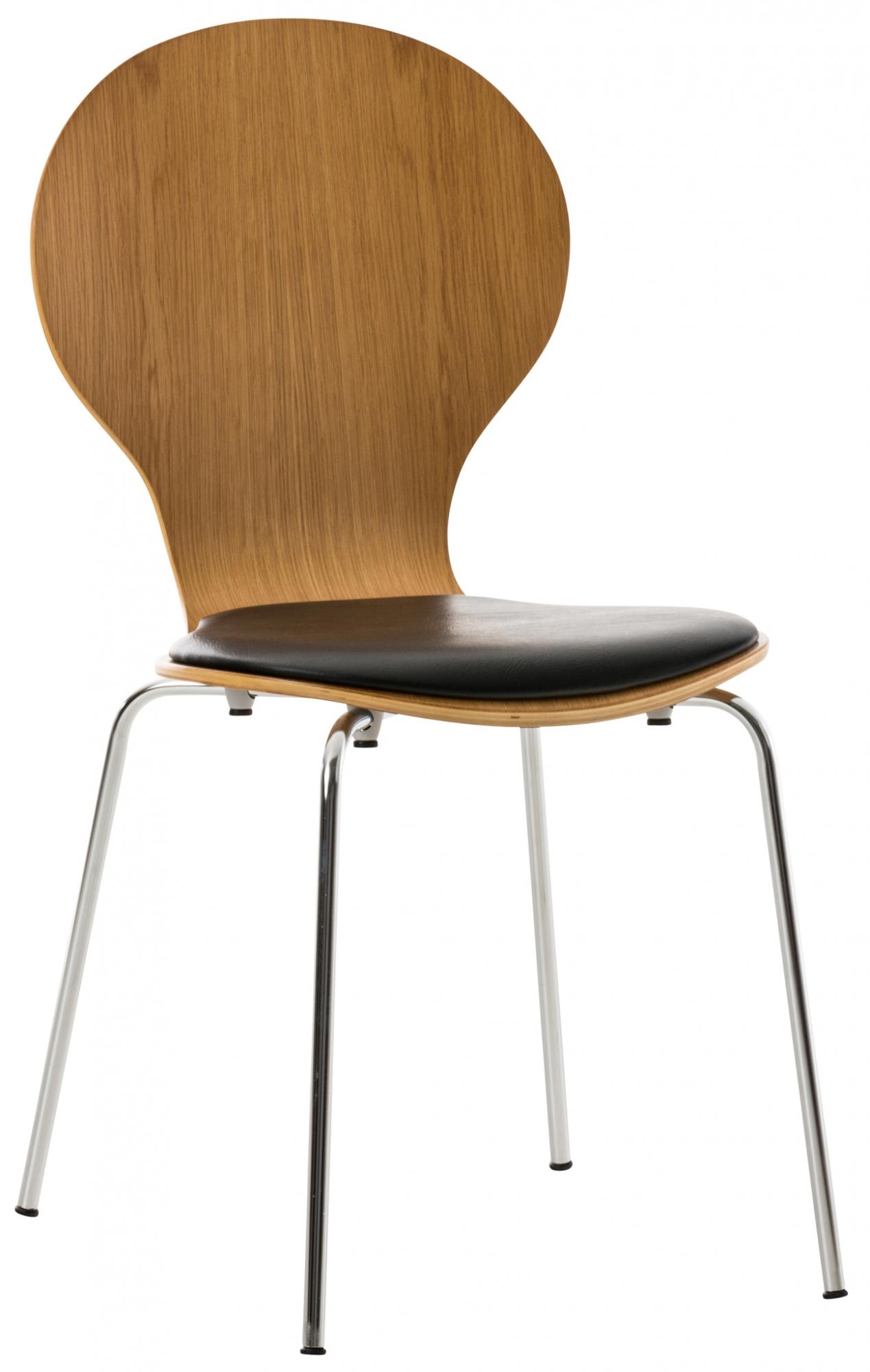 Překližková jídelní židle Dingo, dub/černá