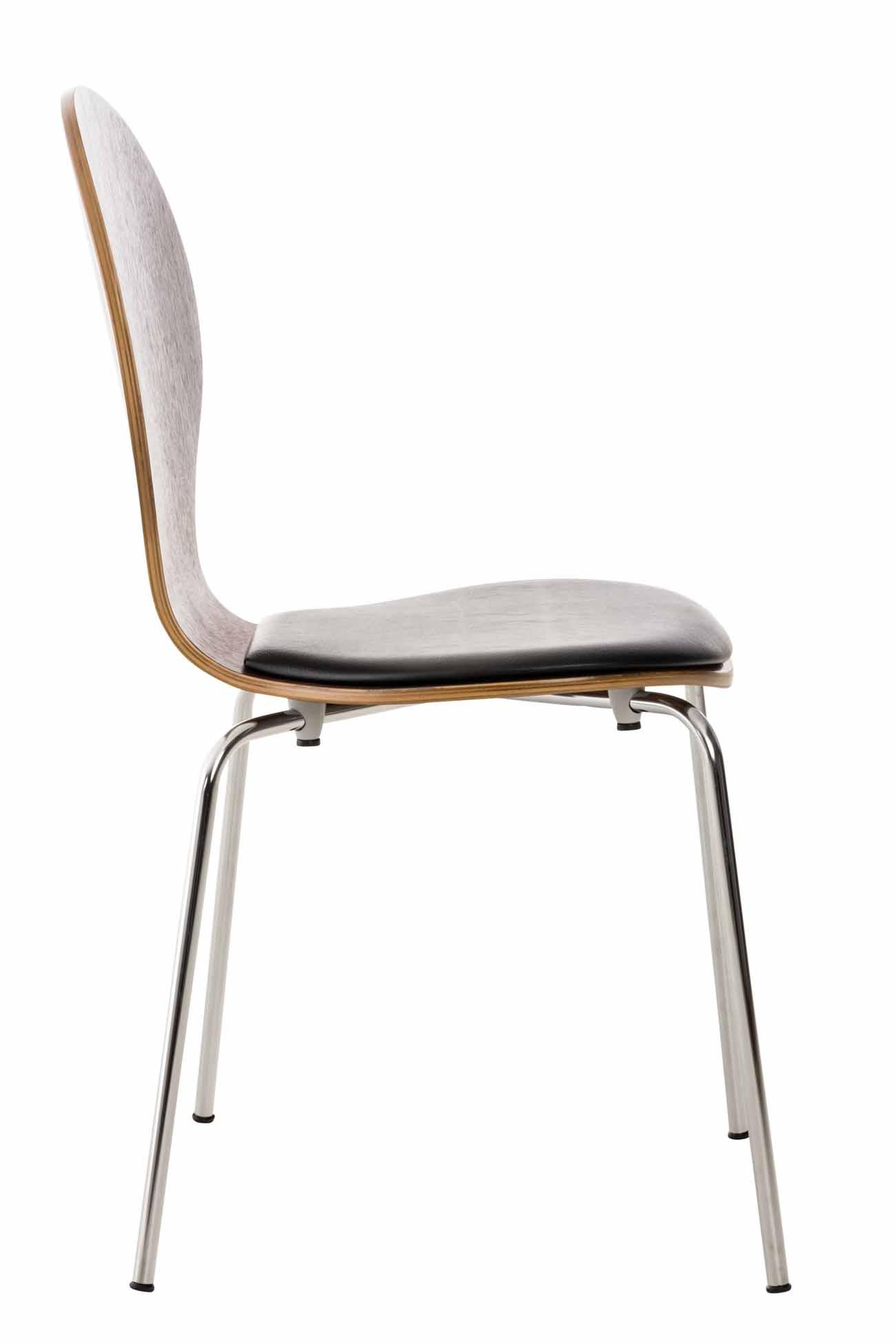 Překližková jídelní židle Dingo, ořech/černá