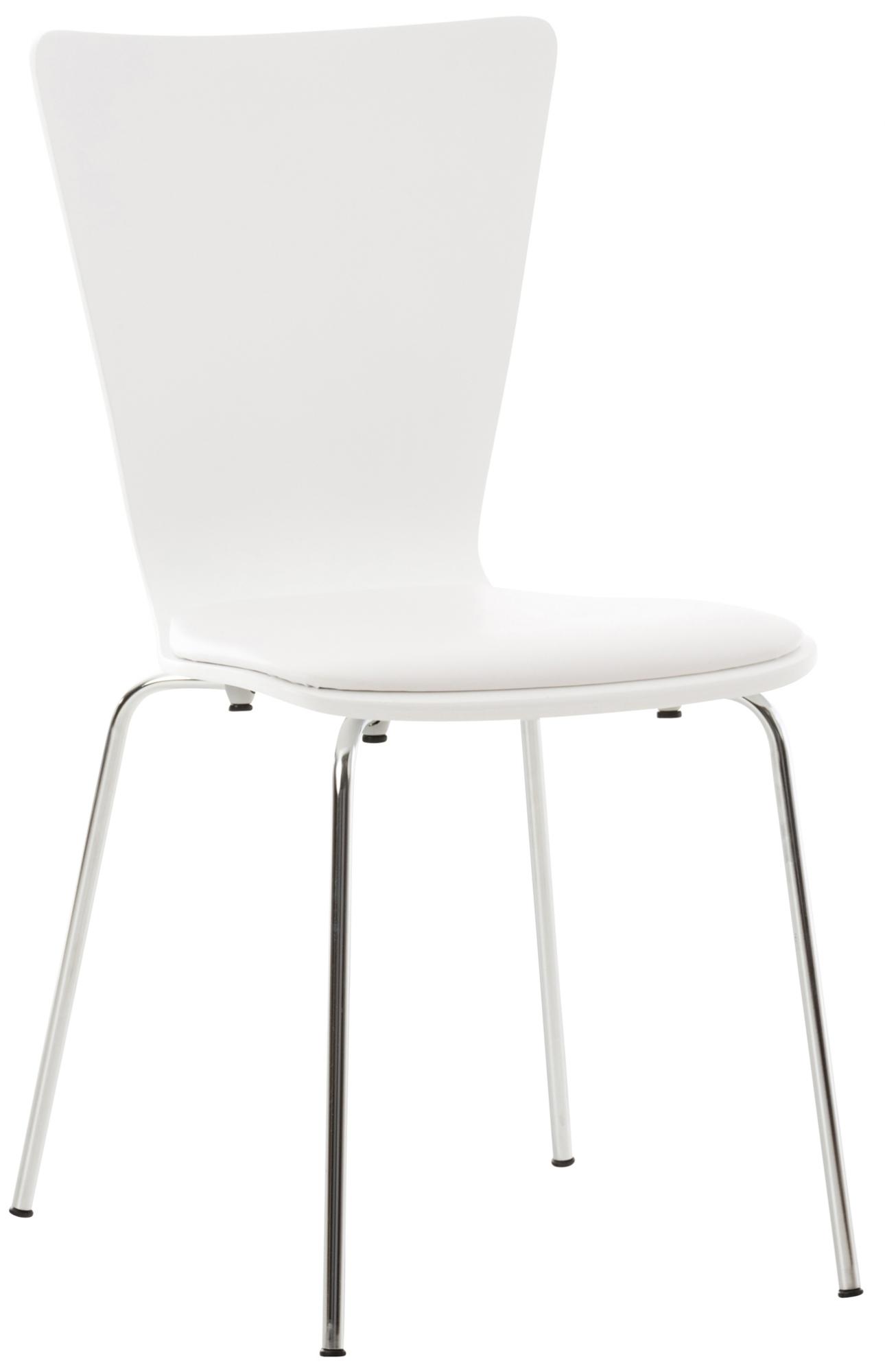 Překližková jídelní židle Jacob, bílá/bílá