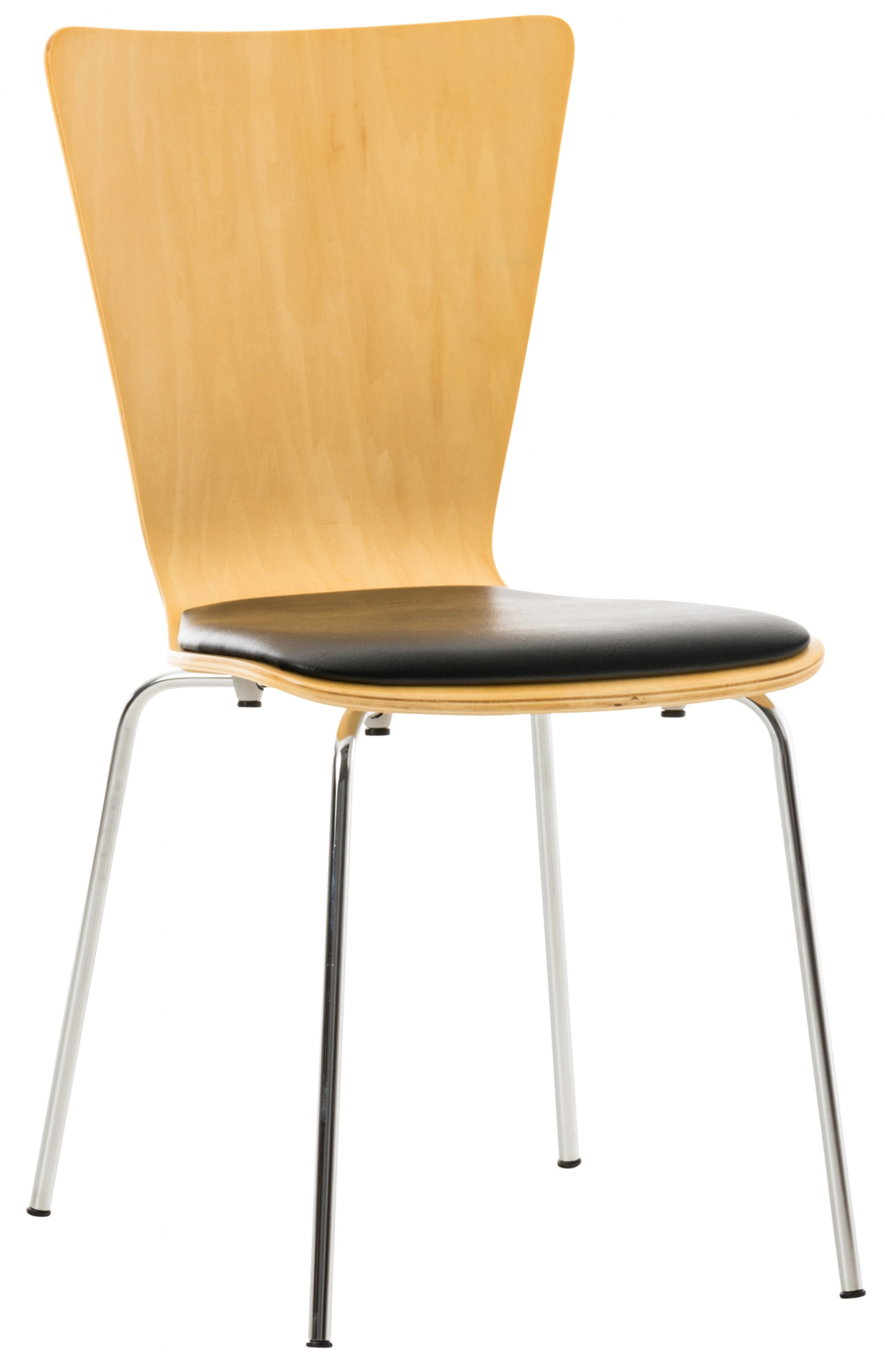 Překližková jídelní židle Jacob, buk/černá