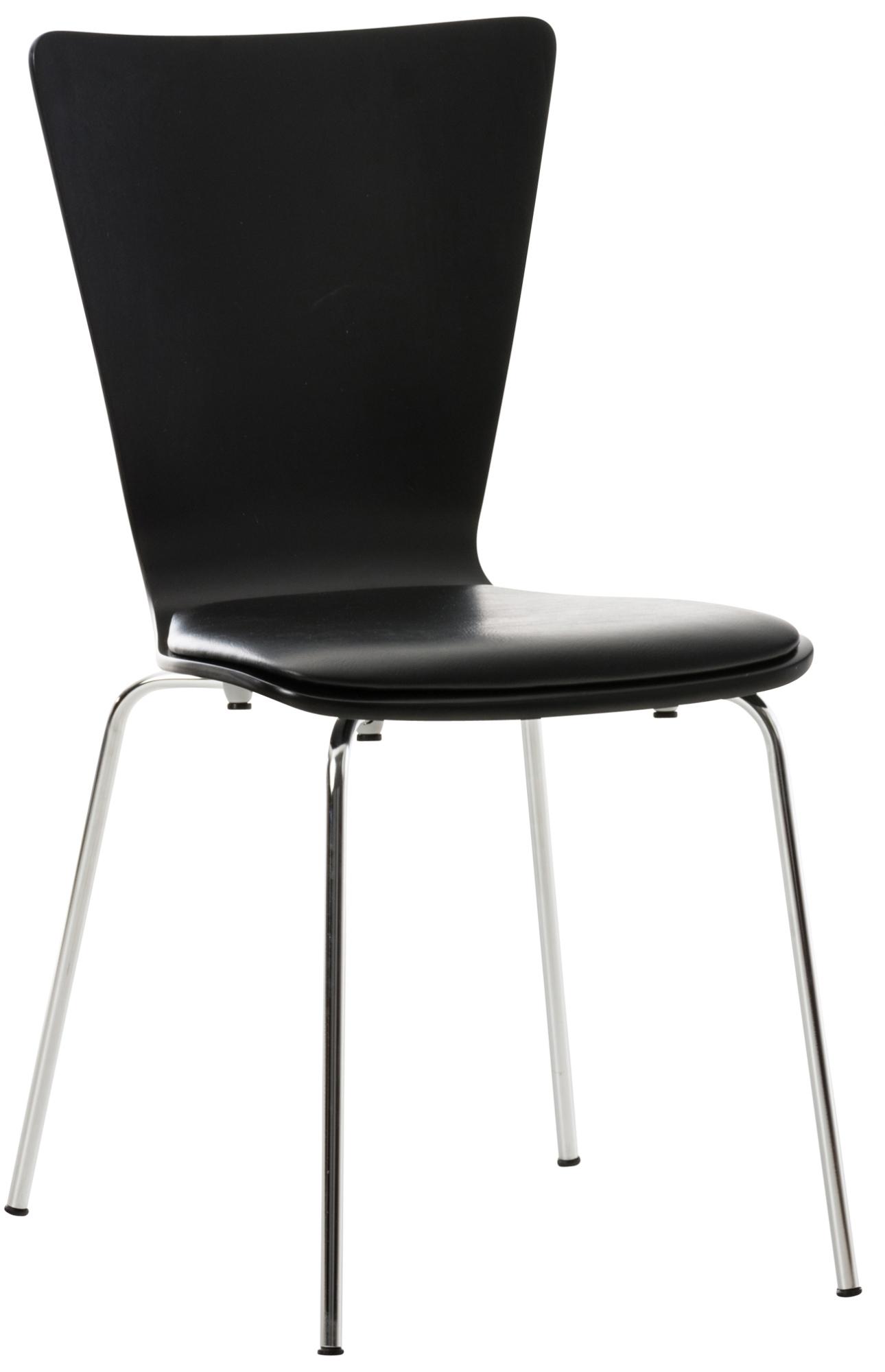 Překližková jídelní židle Jacob, černá/černá