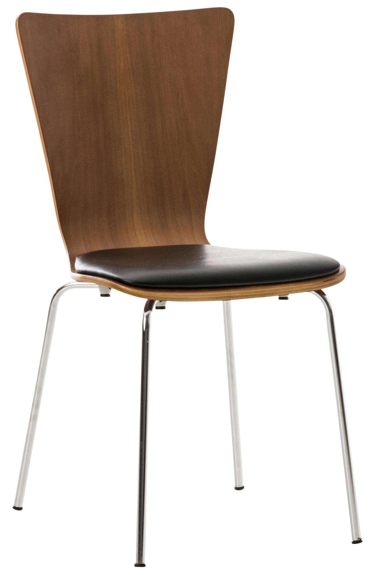 Překližková jídelní židle Jacob, ořech/černá