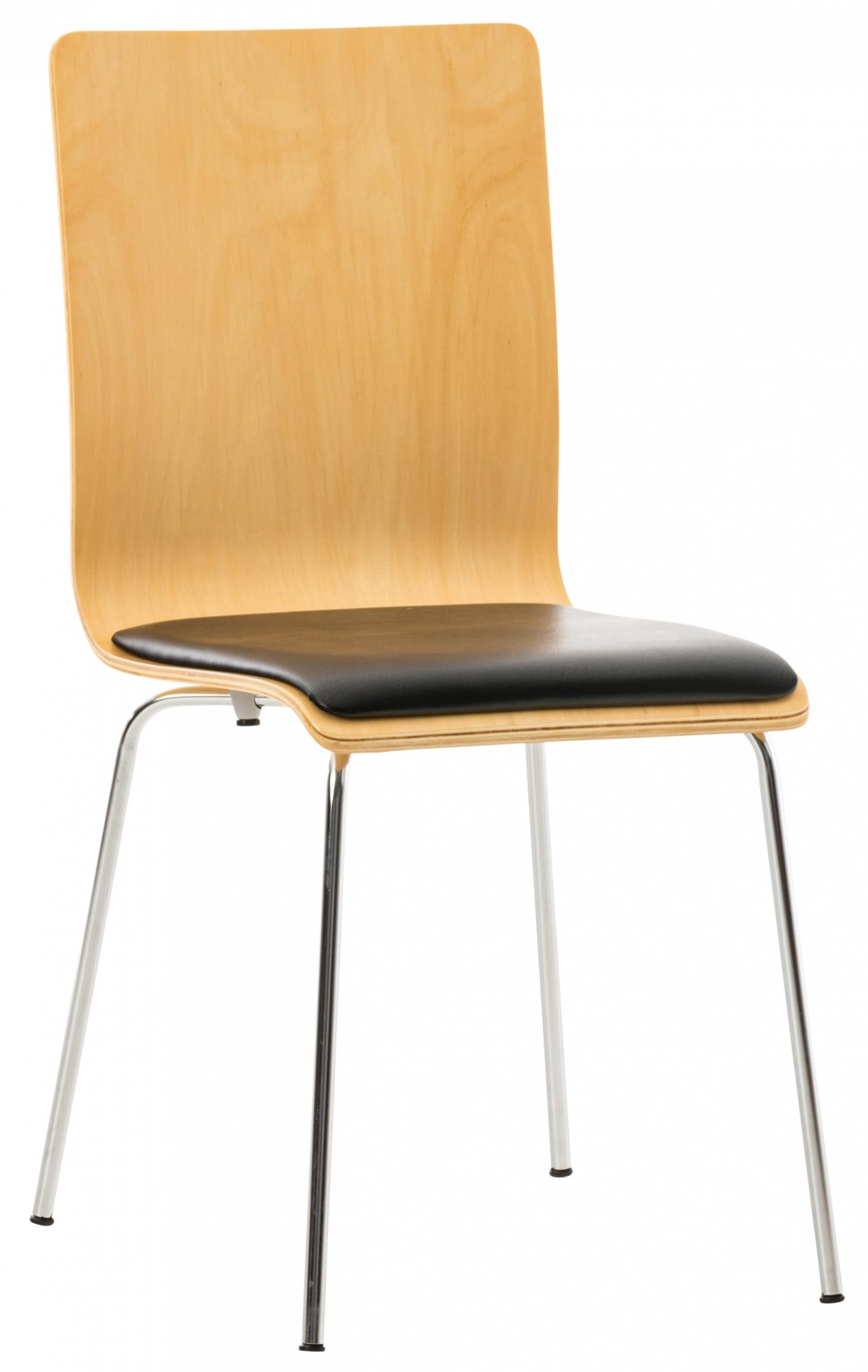 Překližková jídelní židle Pepino, buk/černá