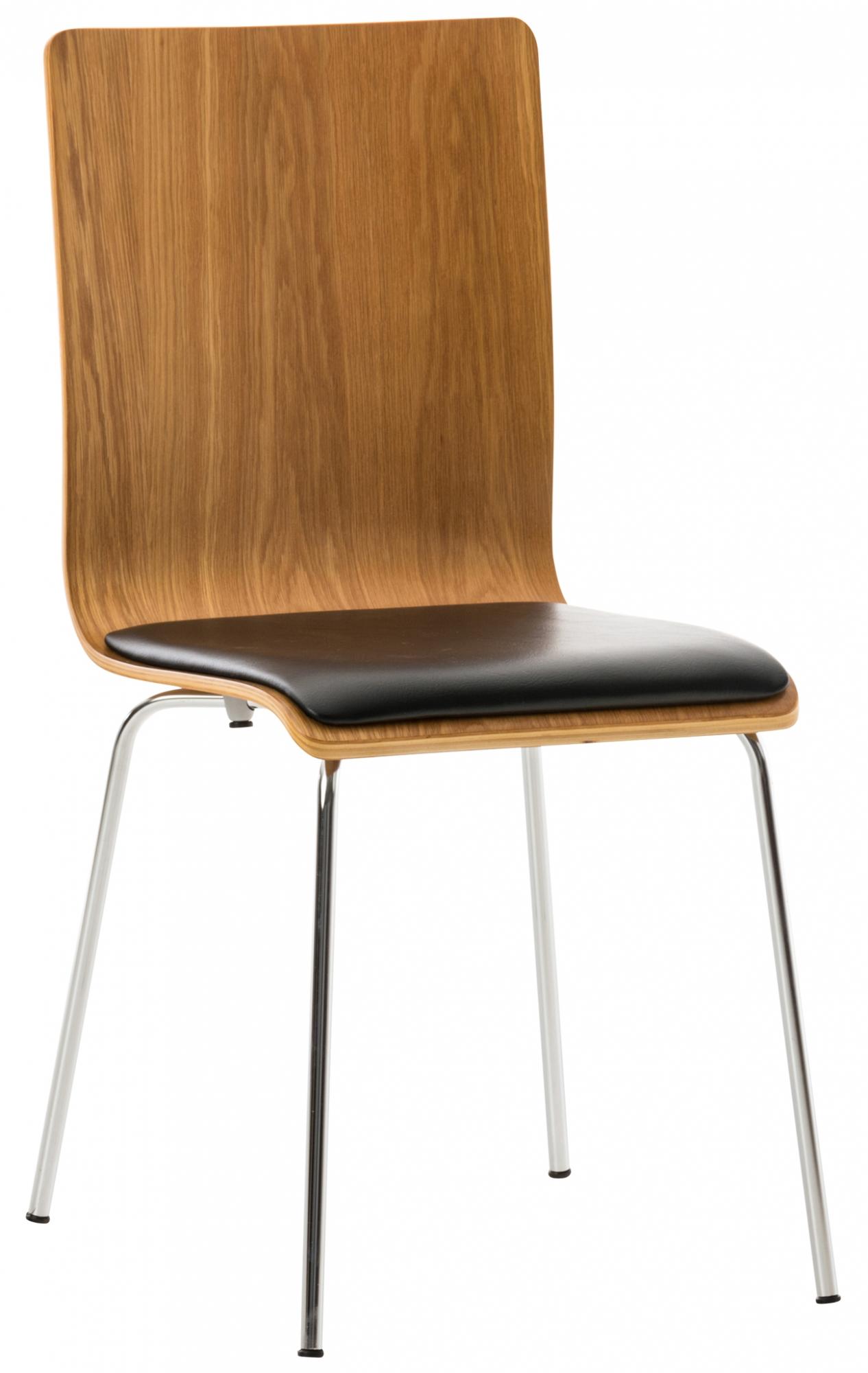 Překližková jídelní židle Pepino, dub/černá