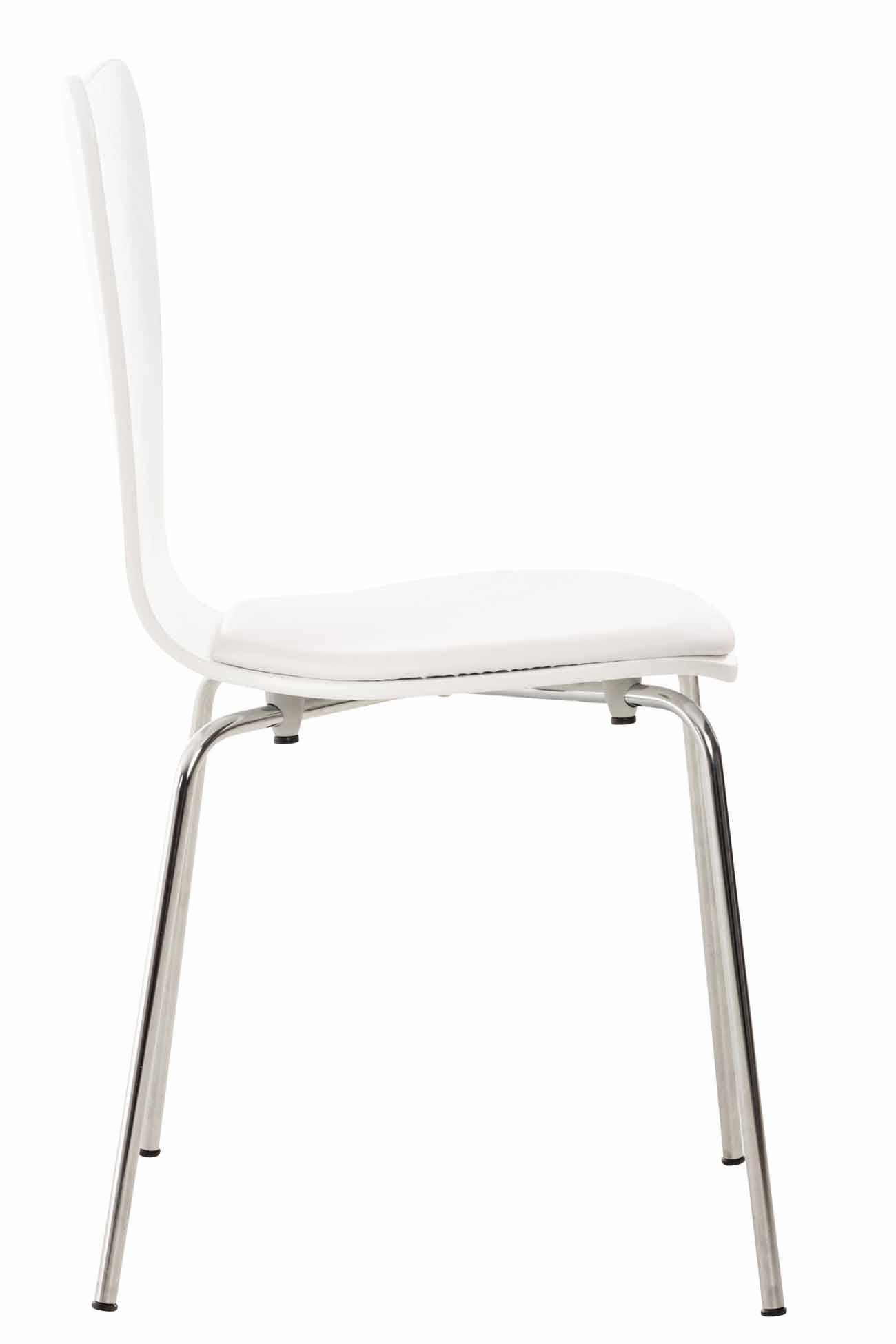 Překližková jídelní židle Story, bílá/bílá