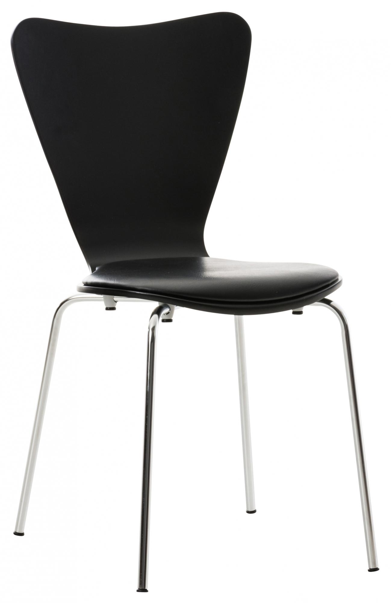 Překližková jídelní židle Story, černá/černá