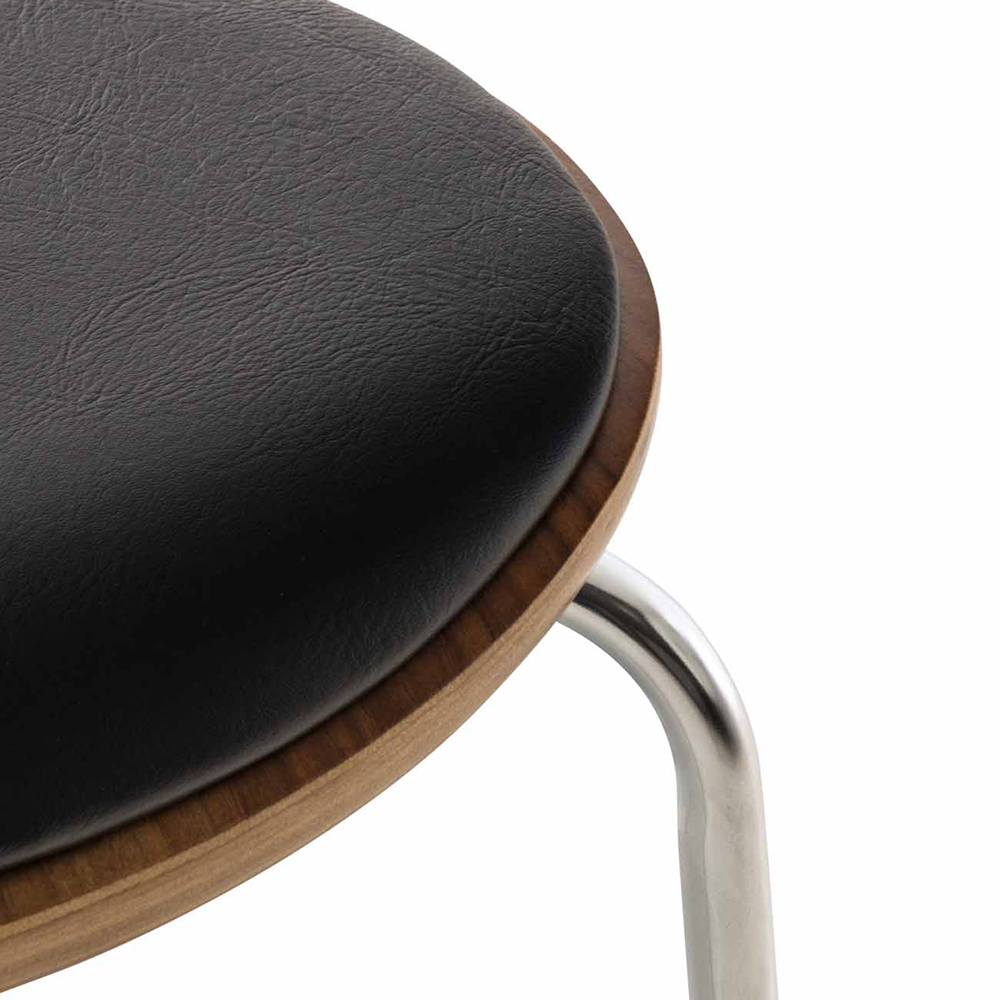 Překližková jídelní židle Story, ořech/černá