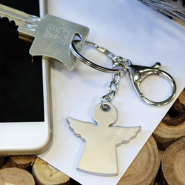 Přívěšek na klíče Angel, 8,5 cm, stříbrná
