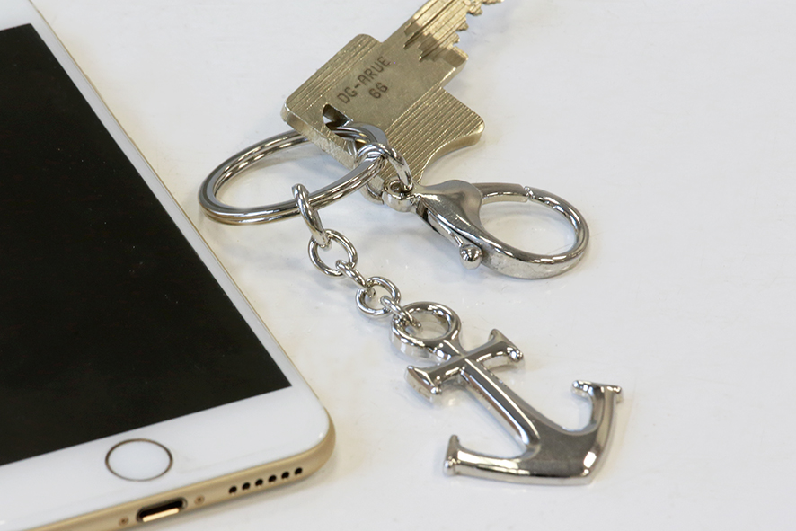 Přívěšek na klíče Sea, 10 cm, stříbrná