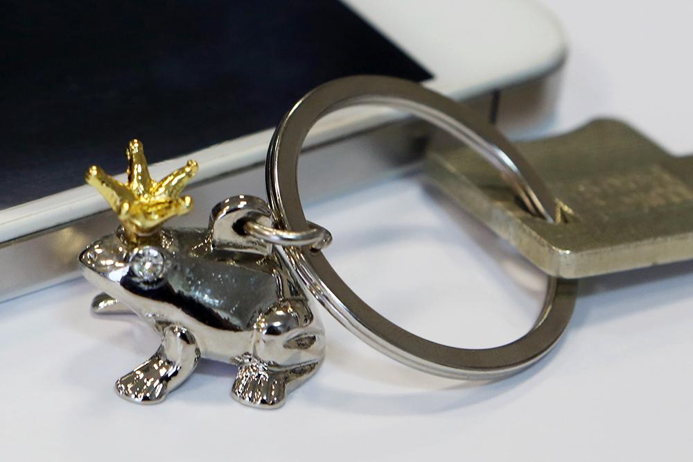 Přívěšek na klíče Žába, 6 cm