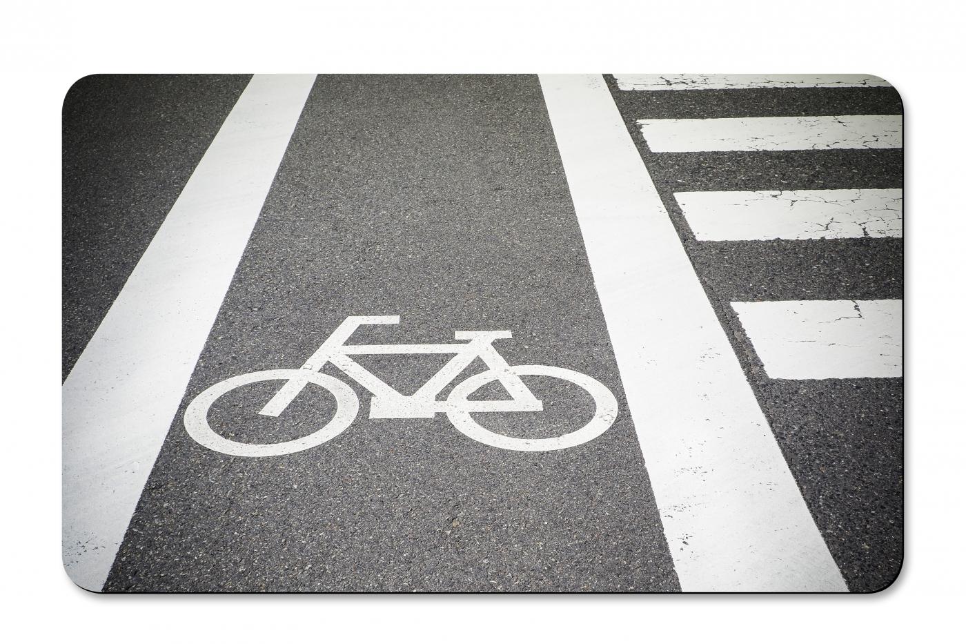 Prkénko umakartové Bike, 24x14 cm, šedá / bílá