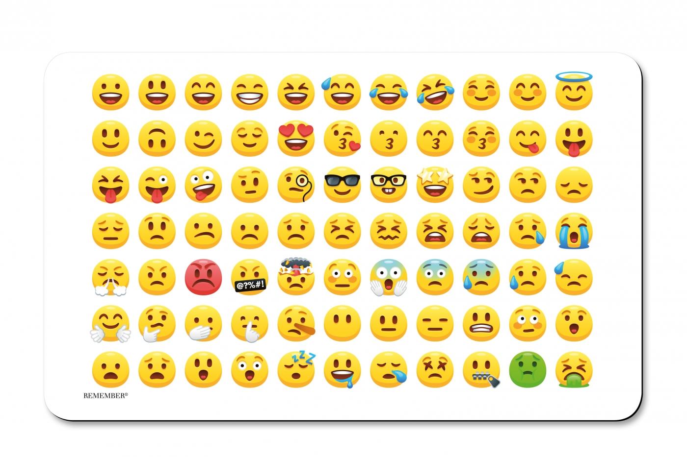 Prkénko umakartové Emoji, 24x14 cm