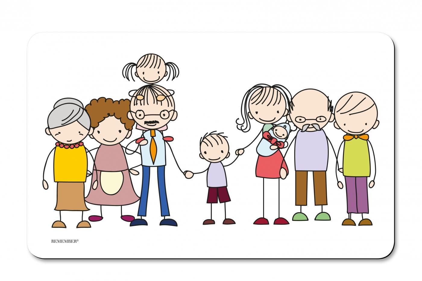 Prkénko umakartové Family, 24x14 cm
