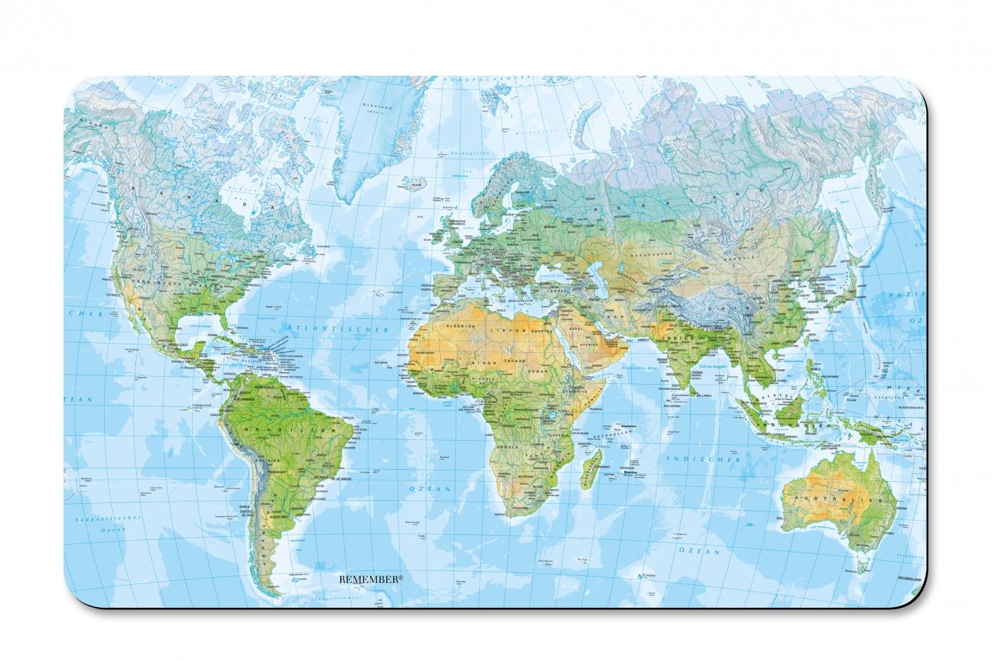 Prkénko umakartové Map, 24x14 cm
