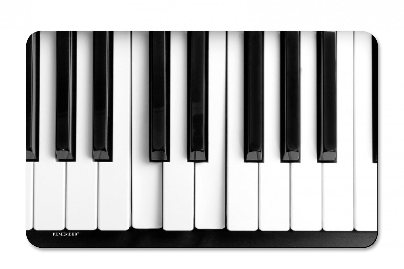Prkénko umakartové Music, 24x14 cm, černá / bílá