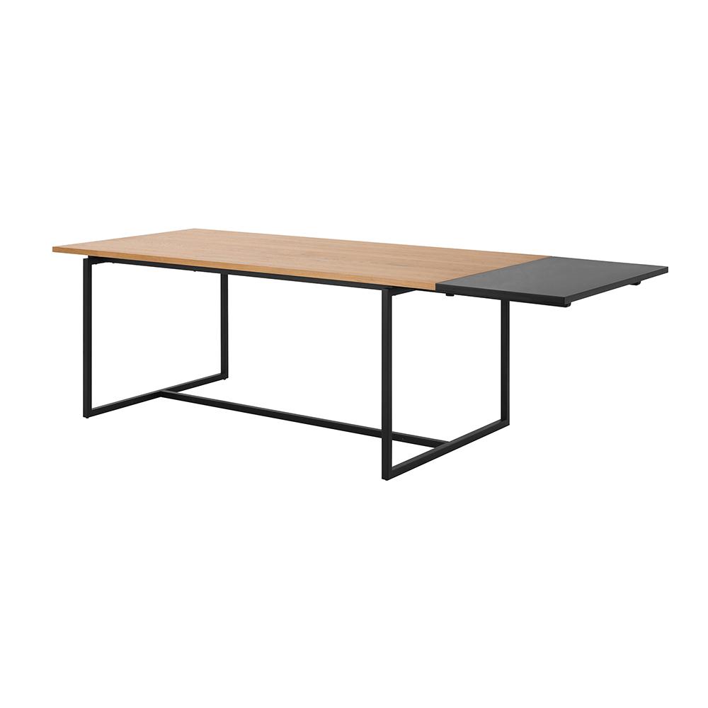 Prodlužovací deska k jídelnímu stolu Falun, 50 cm, černá