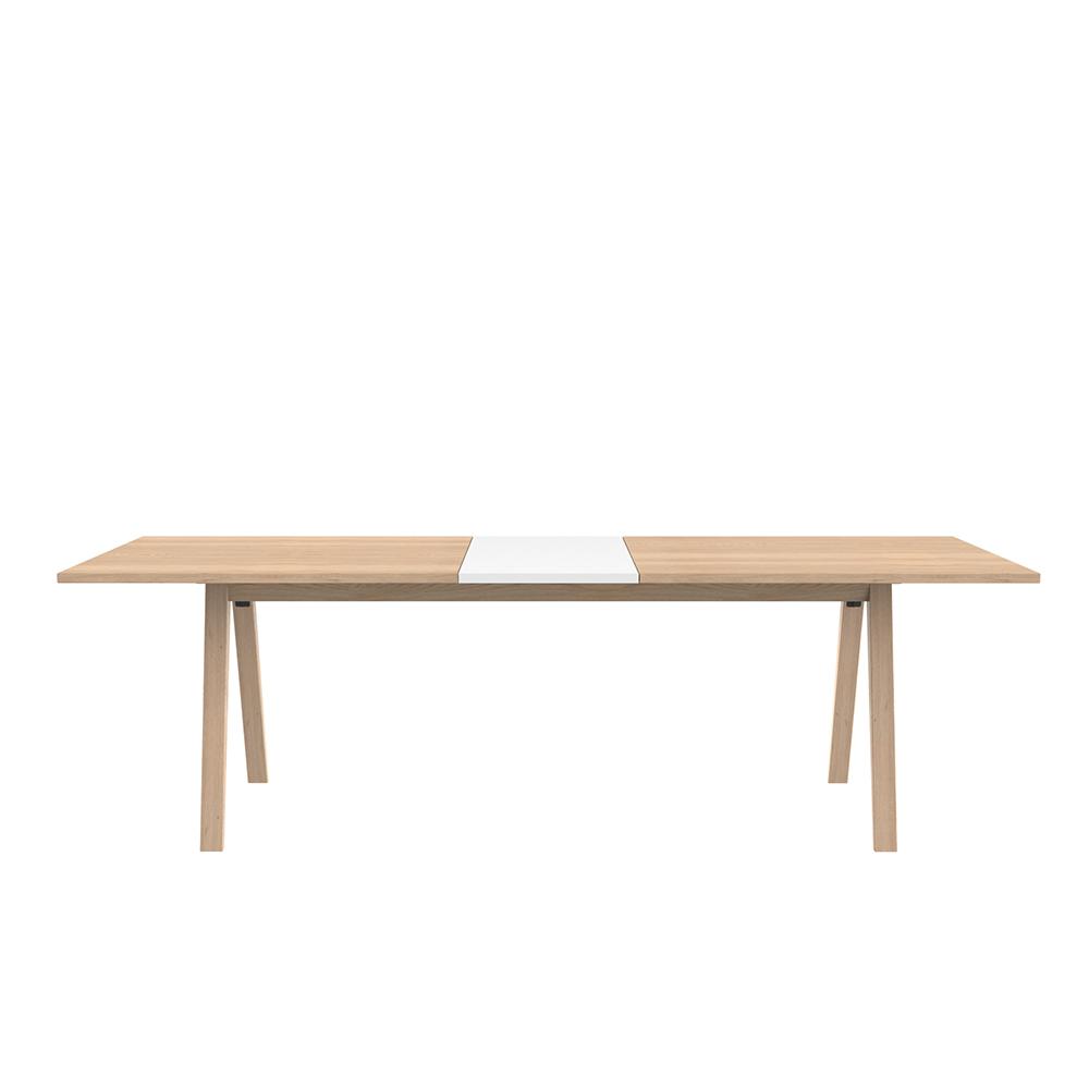 Prodlužovací deska k jídelnímu stolu Sumo, 45 cm, bílá