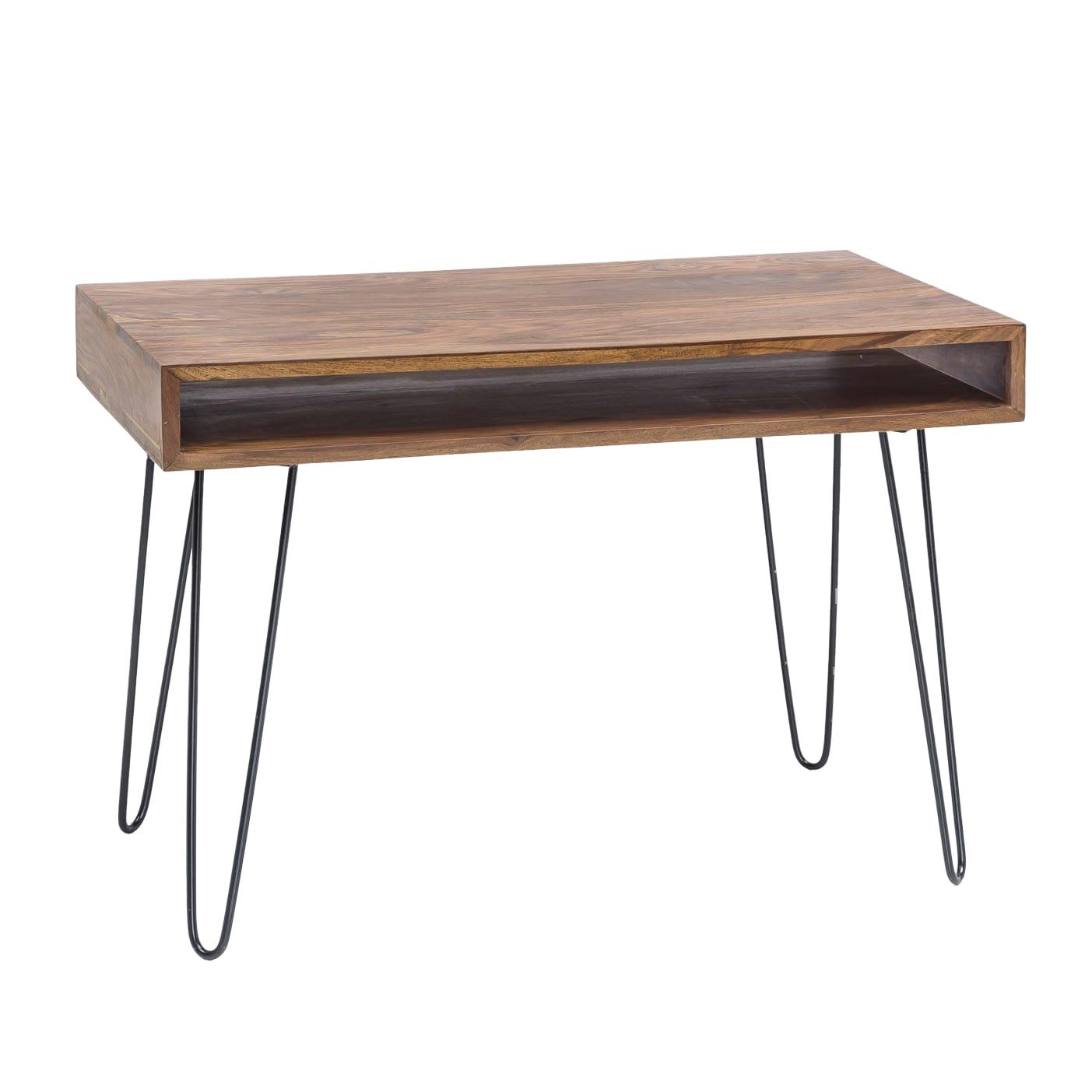 Psací stůl Bagli, 110 cm, masiv Sheesham