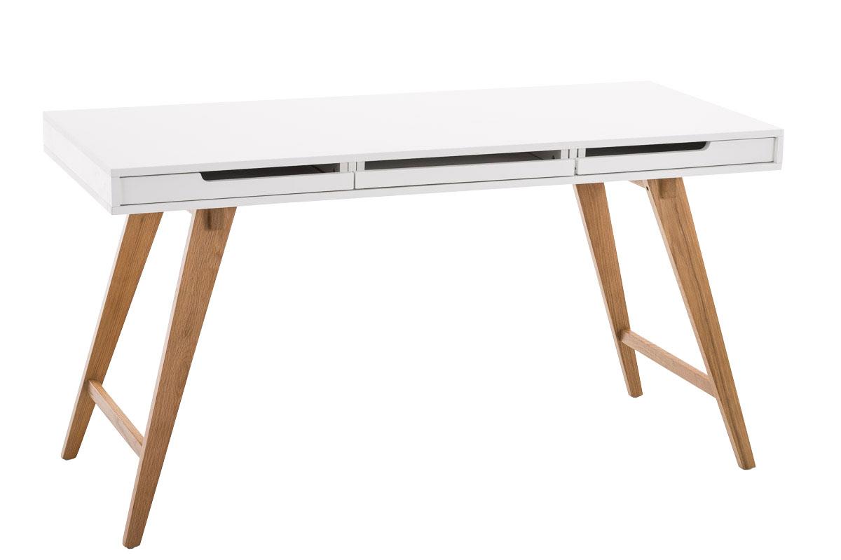 Psací stůl Porto, 140 cm, bílá