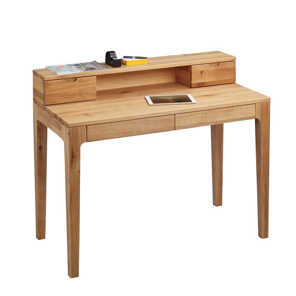 Psací stůl s nástavbou Theodor, 110 cm, divoký dub
