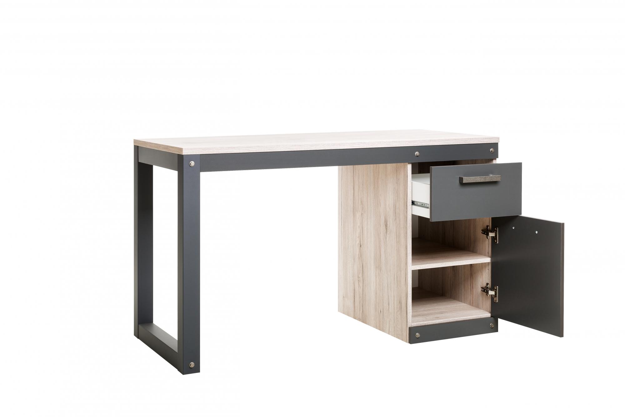 Psací stůl se skříňkou a zásuvkou Detroit, 125 cm