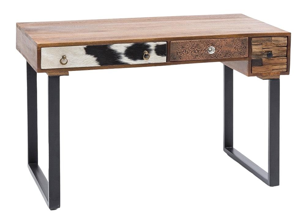 Psací stůl se zásuvkami Patna, 120 cm, mangové dřevo