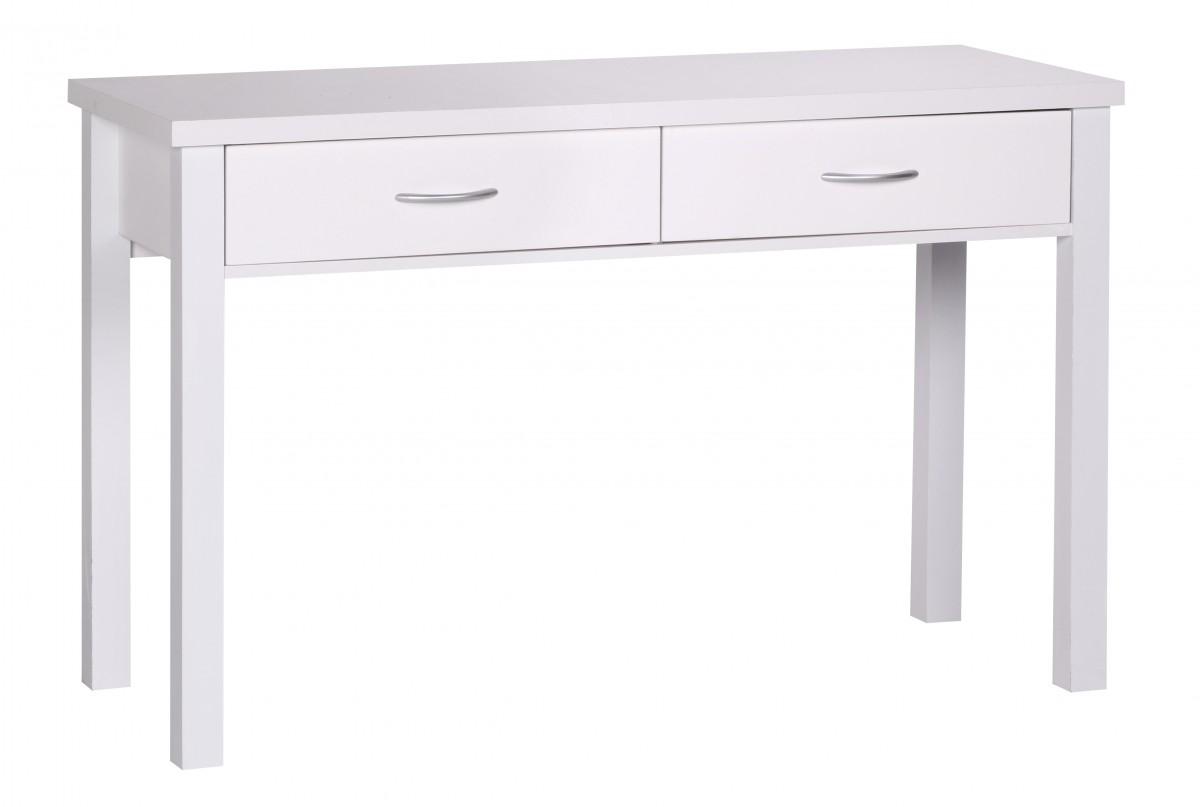 Psací stůl se zásuvkami Sam, 120 cm, bílá
