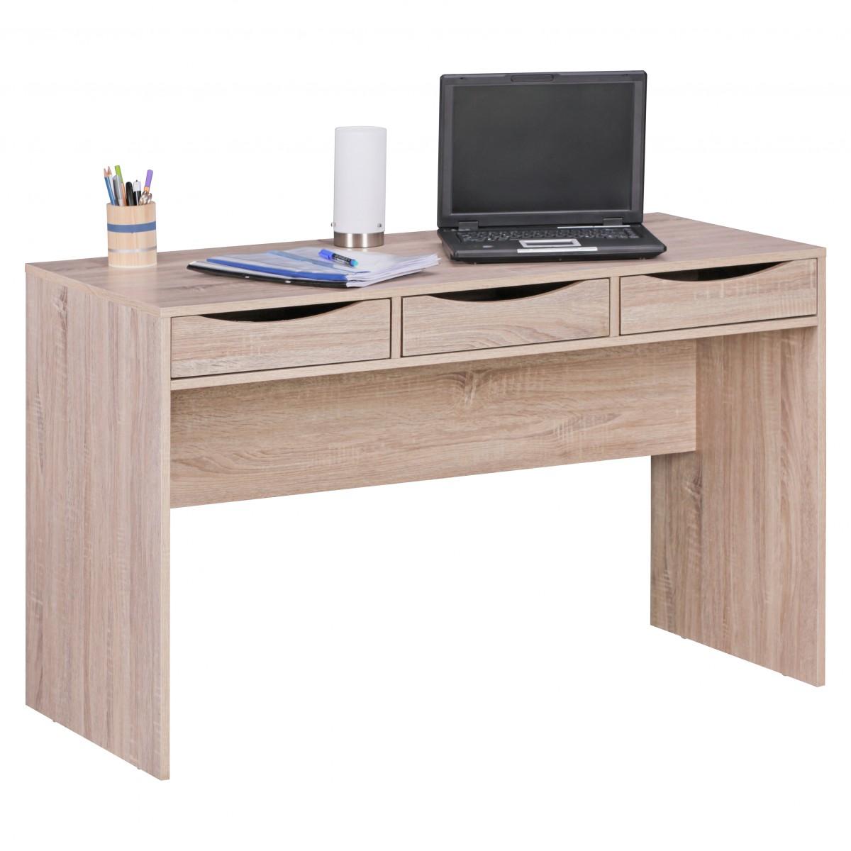 Psací stůl se zásuvkami Samo, 120 cm, Sonoma dub