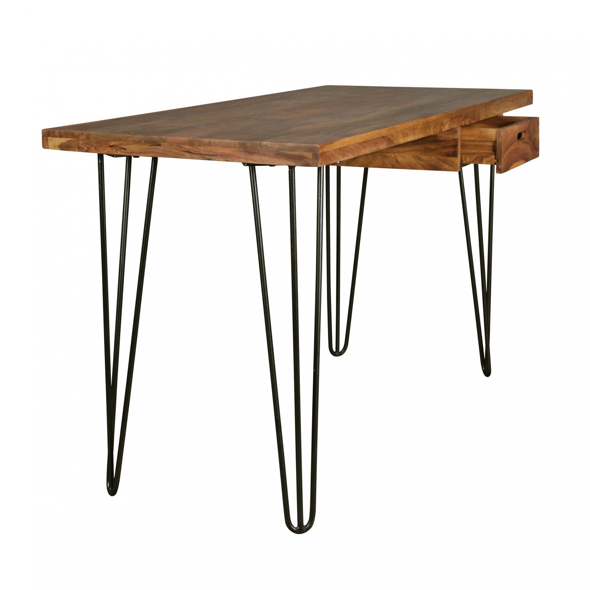 Psací stůl se zásuvkou Bagli, 130 cm, masiv Sheesham