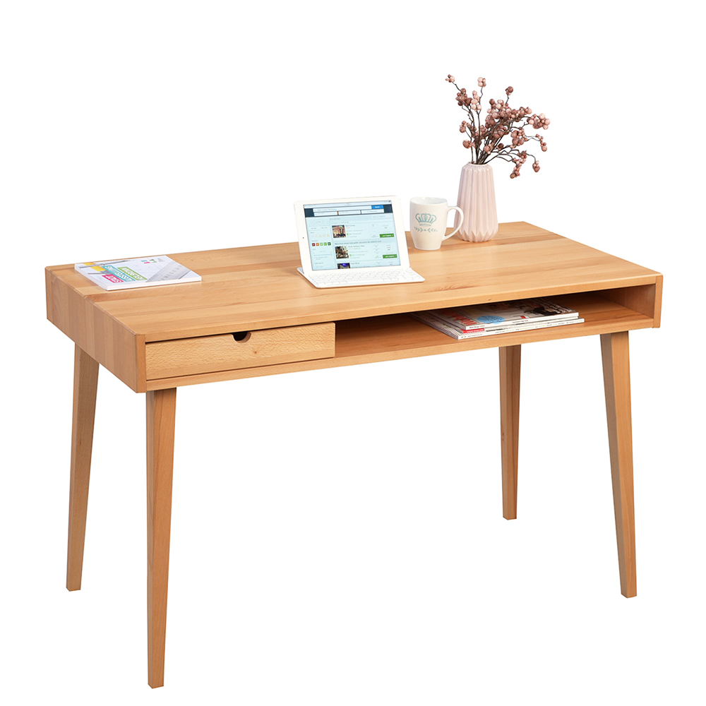 Psací stůl se zásuvkou Ida, 120 cm, buk