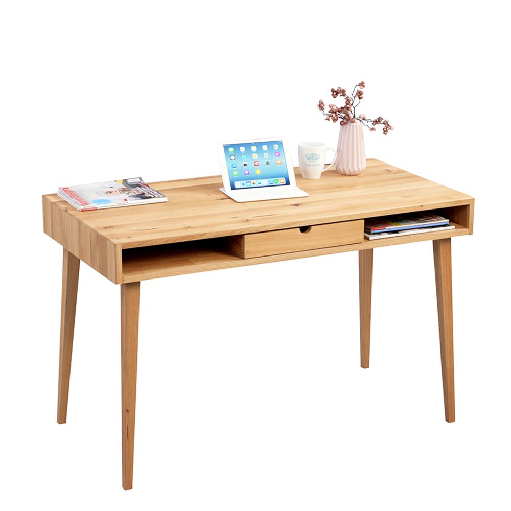 Psací stůl se zásuvkou Ida, 120 cm, divoký dub