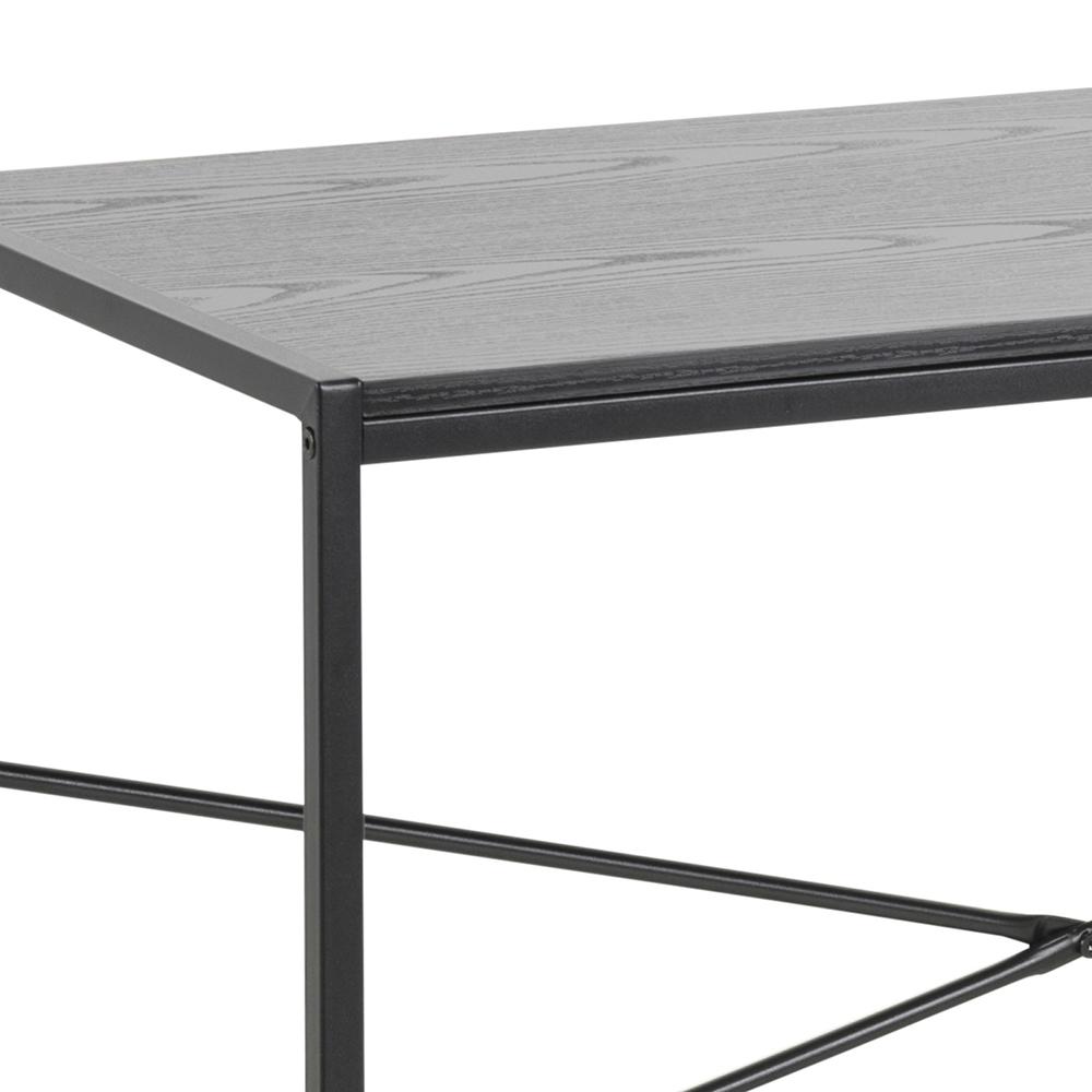 Psací stůl Seashell, 100 cm, černý jasan