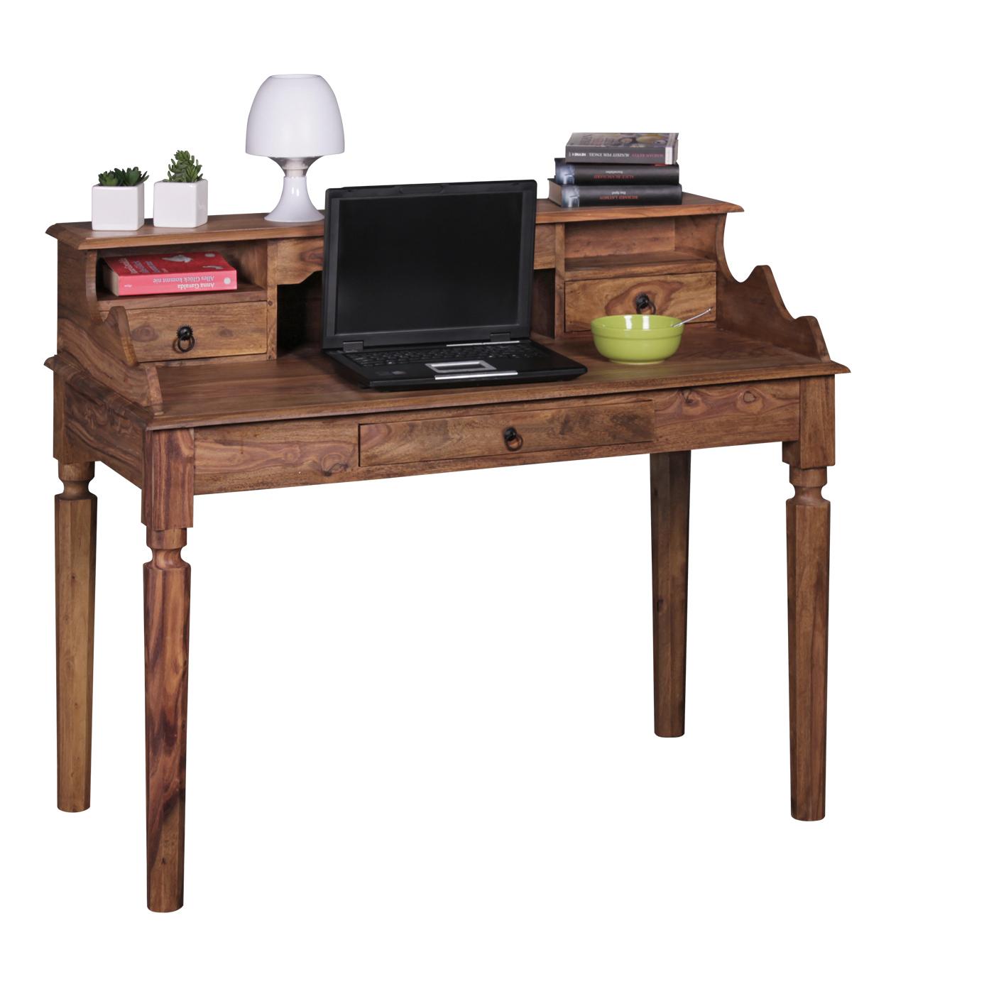 Psací stůl / sekretář Kada, 115 cm, masiv Sheesham