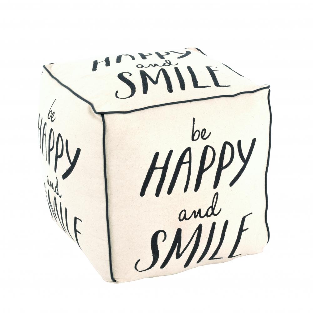 Puf Be happy, 47 cm