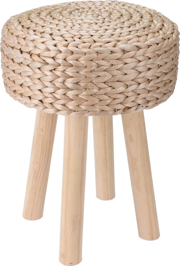Rákosová stolička s teakovými nohami Liden, 30 cm