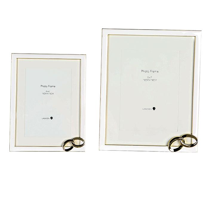 Rámeček na fotky Hao, 10x15 cm, bílá